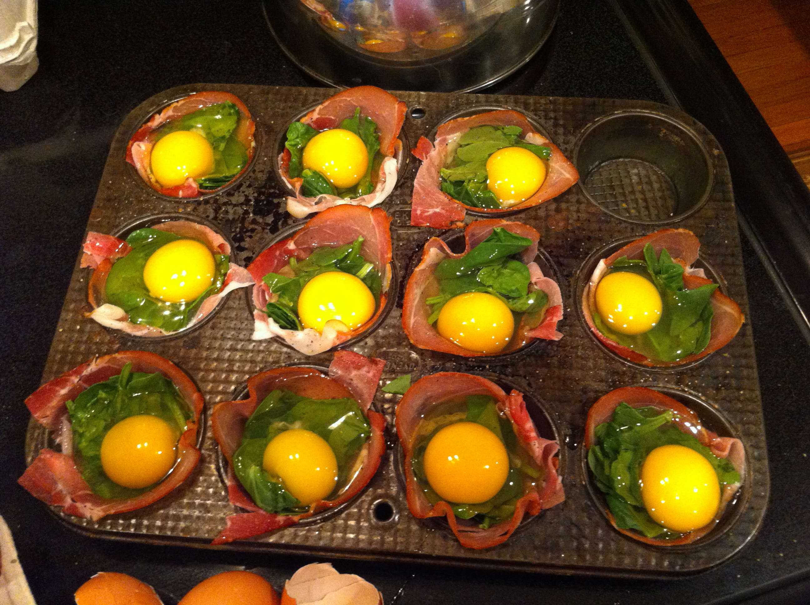 ... into my prosciutto eggs cups prosciutto egg cups eggs kinda breakfast